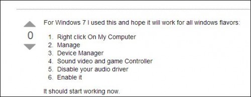manage audio driver