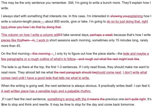 Edits made on day 2 of day 1's text. Click to enlarge.