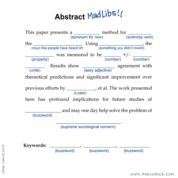 Abstract Madlibs The Incidental Economist
