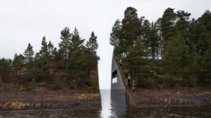Design for a memorial for the victims at Utoya.