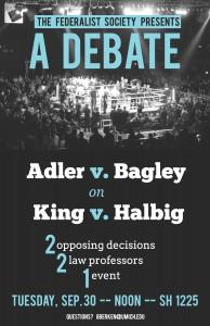 Adler v. Bagley Debate Poster