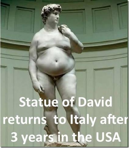 obese david