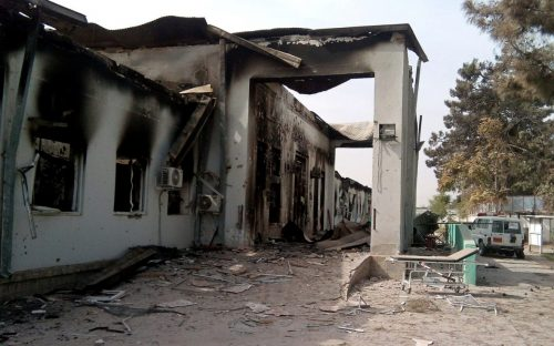 Bombed MSF Hospital in Afghanistan.