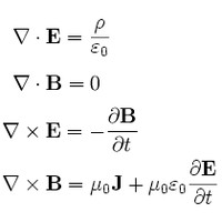 Maxwell's equations in differential equation form.